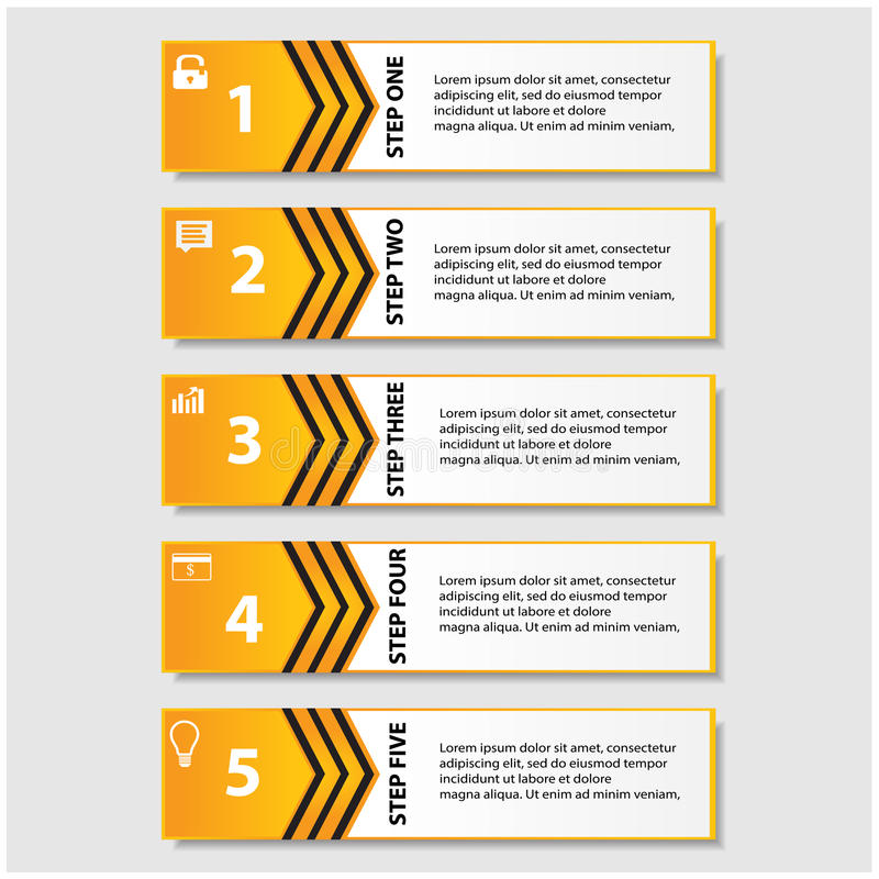 Design clean number banners template/graphic or website layout royalty free illustration