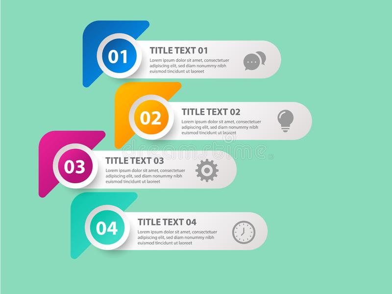 Design clean number banners template/graphic or website layout. Vector. - Vector. Infographics design template with icons, process diagram, vector eps10 royalty free illustration