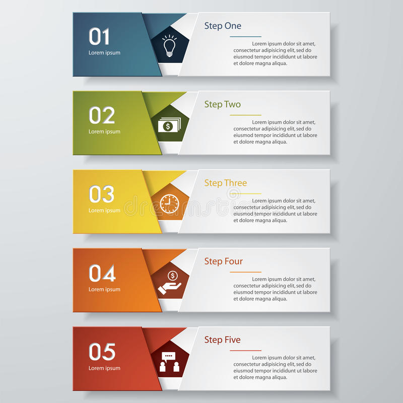Free Design Clean Number Banners Template. Vector. Royalty Free Stock Photography - 45042797