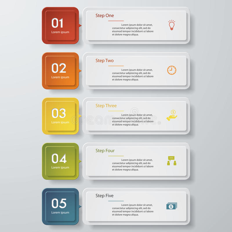 Free Design Clean Number Banners Template. Vector. Royalty Free Stock Photos - 50608758