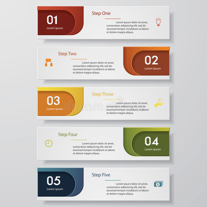 Free Design Clean Number Banners Template. Vector. Stock Photo - 50616700