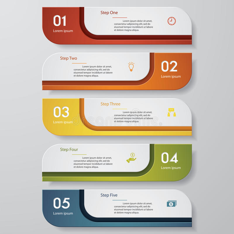 Free Design Clean Number Banners Template. Vector. Royalty Free Stock Photos - 52400208