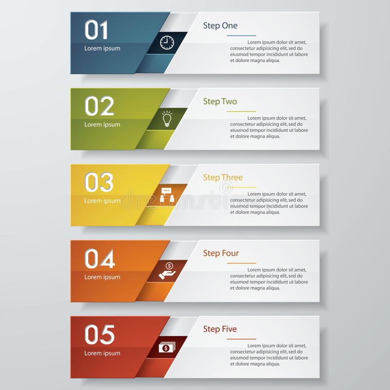 Design clean number banners template. Vector. vector illustration