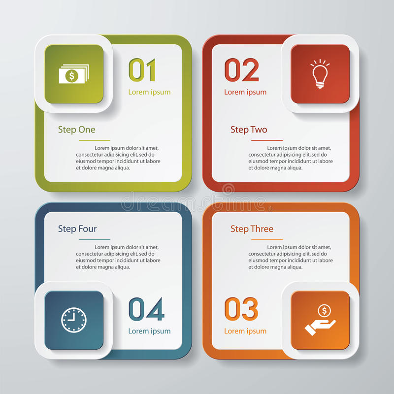 Design clean number banners template. Vector. royalty free illustration