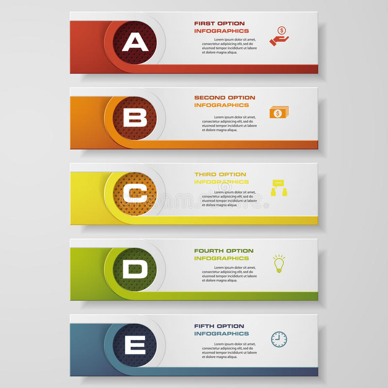 Design clean number banners template. Vector. stock illustration