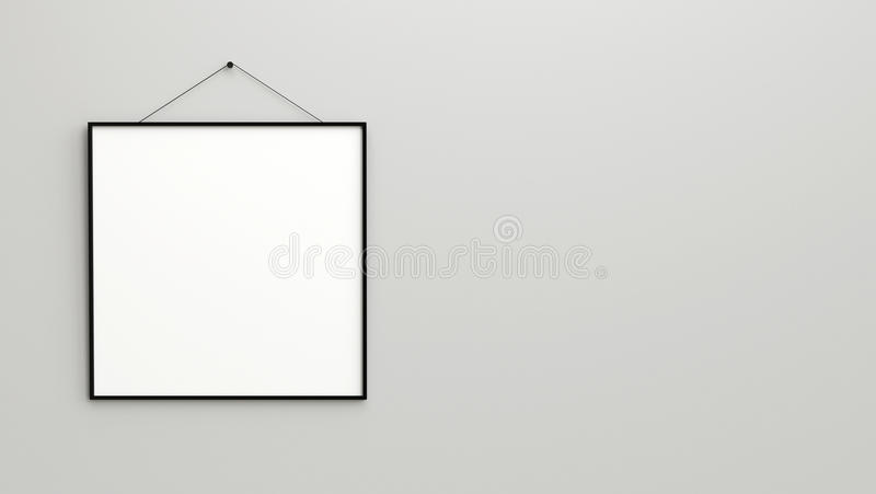 download design clock with square frames black and white blank box stock image - White Square Frames