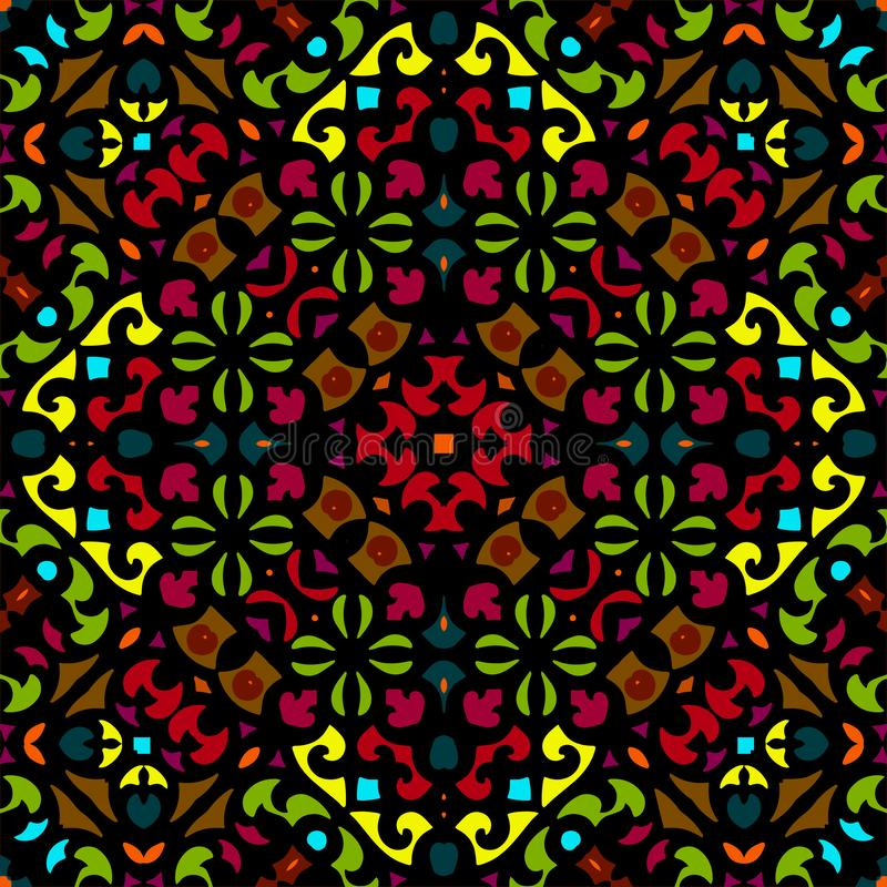 Seamless colorful of ethnic pattern stock photo
