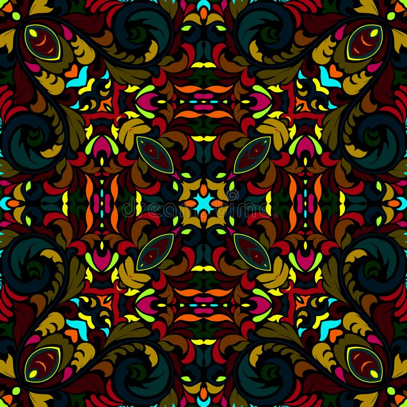 Seamless colorful of ethnic pattern stock images
