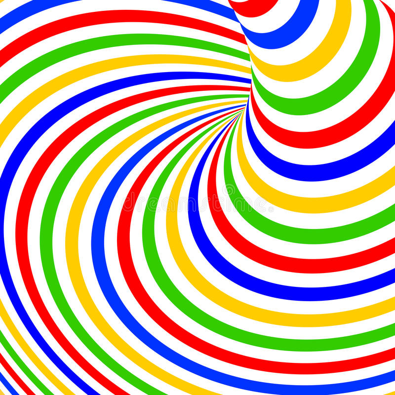 Design colorful vortex movement background. Design colorful vortex movement illusion background. Abstract stripe torsion backdrop. Vector-art illustration stock illustration