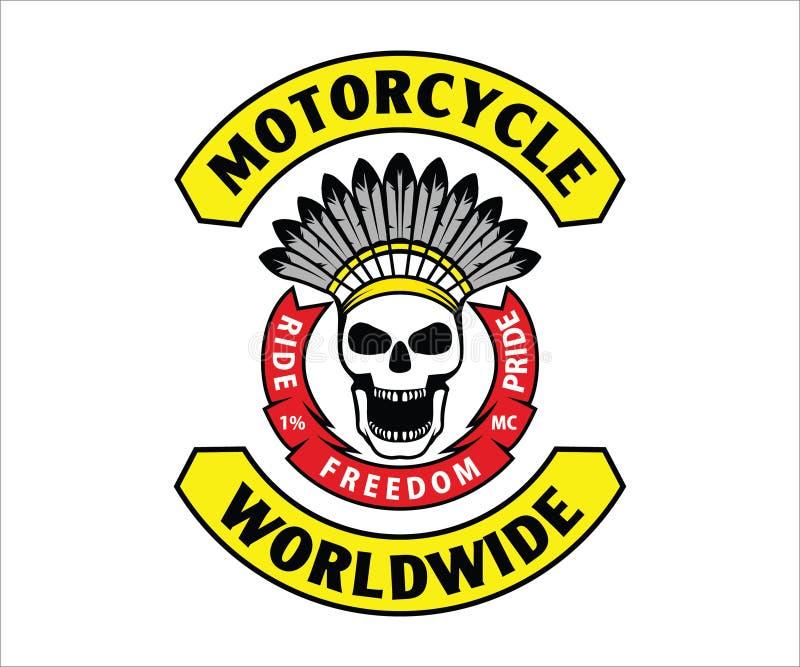 Motorcycle Club Logo, emblem, symbol, sticker stock photo