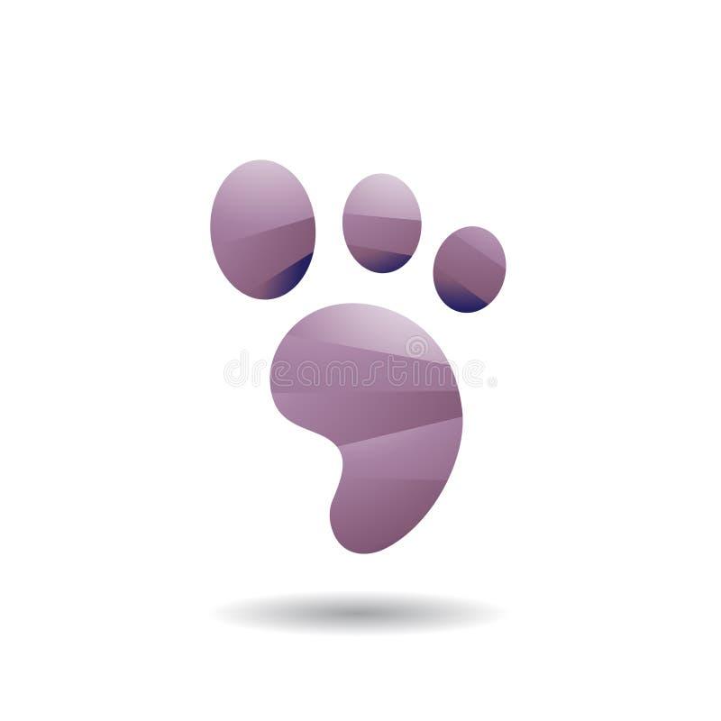 Abstract Symbol of Animal Footprint Icon royalty free illustration