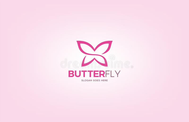 Butterfly Logo Design royalty free illustration