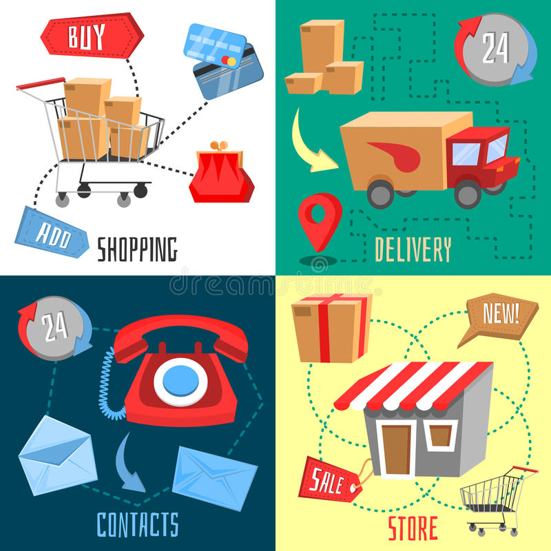 Design concept of e-commerce royalty free illustration