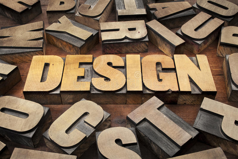 Download Design Concept In Wood Type Stock Photo - Image: 26575998