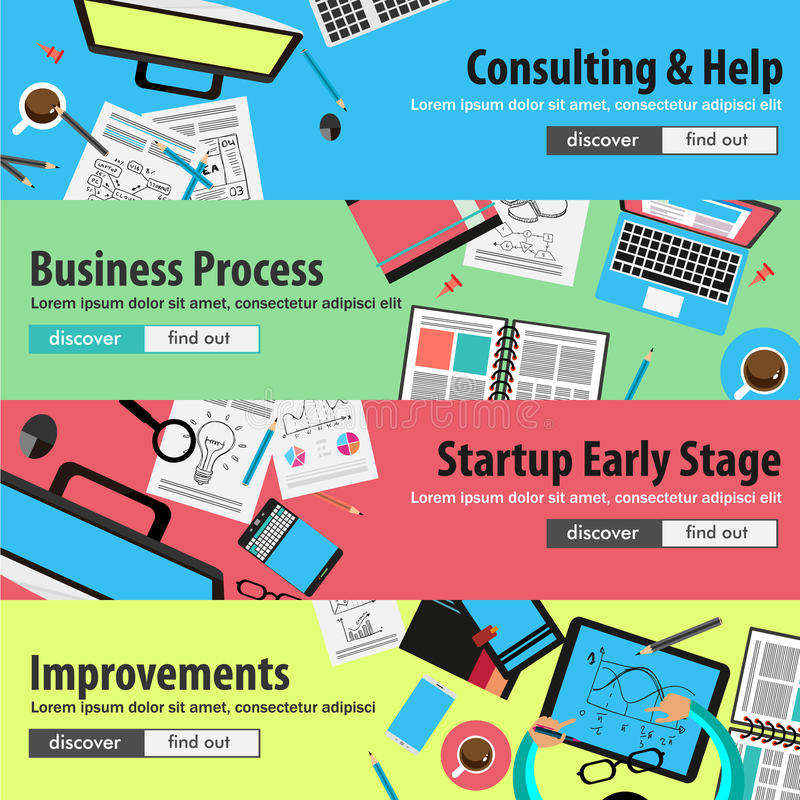 Design concepts for mobile marketing and money investments vector illustration