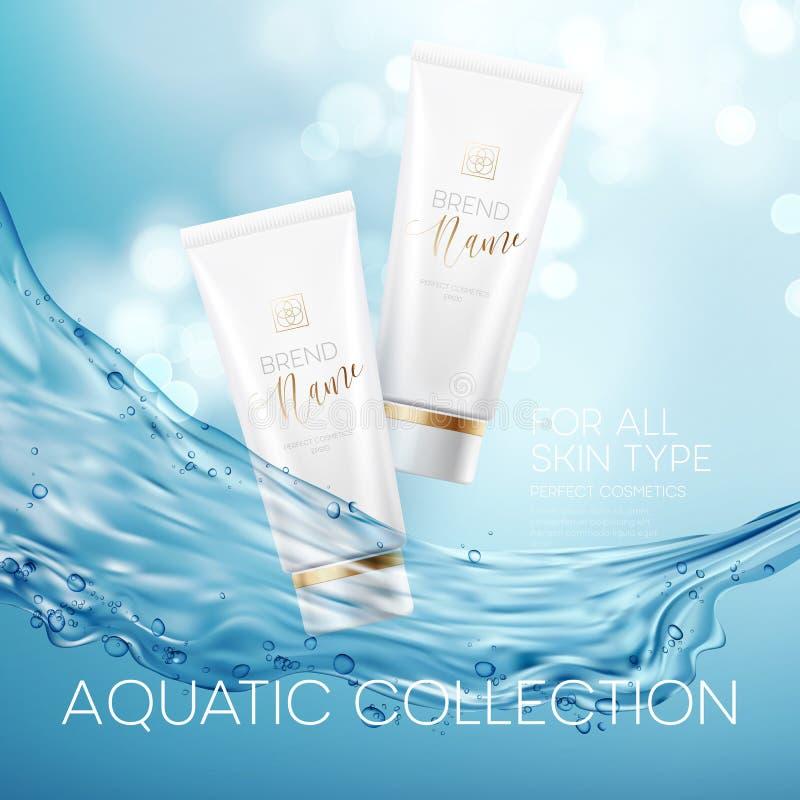 Design cosmetics product advertising. Vector illustration. EPS10 royalty free illustration