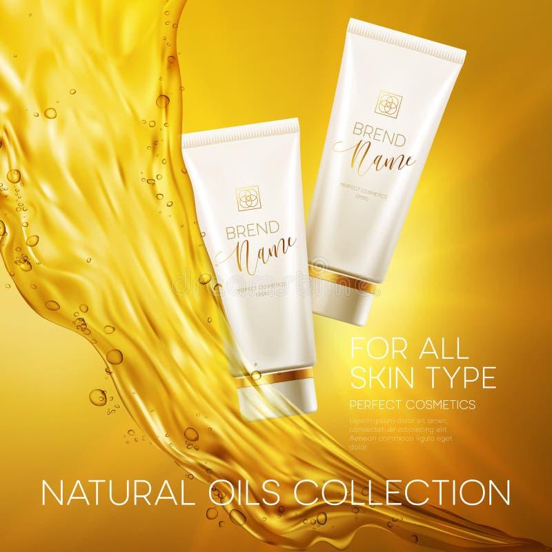 Design cosmetics product advertising. Vector illustration. EPS10 vector illustration