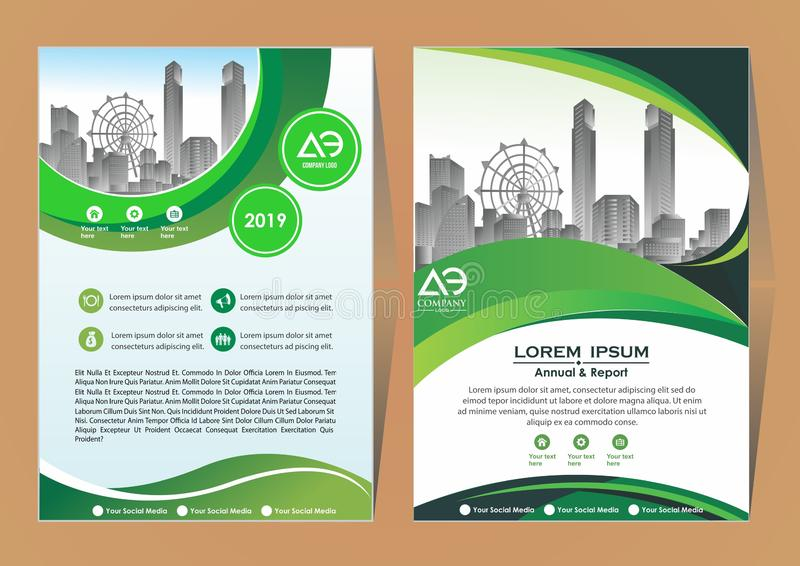 Cover book brochure layout flyer poster royalty free stock photography
