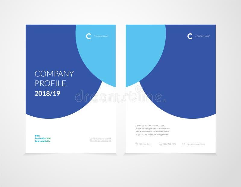 Headline cover for company profile stock illustration