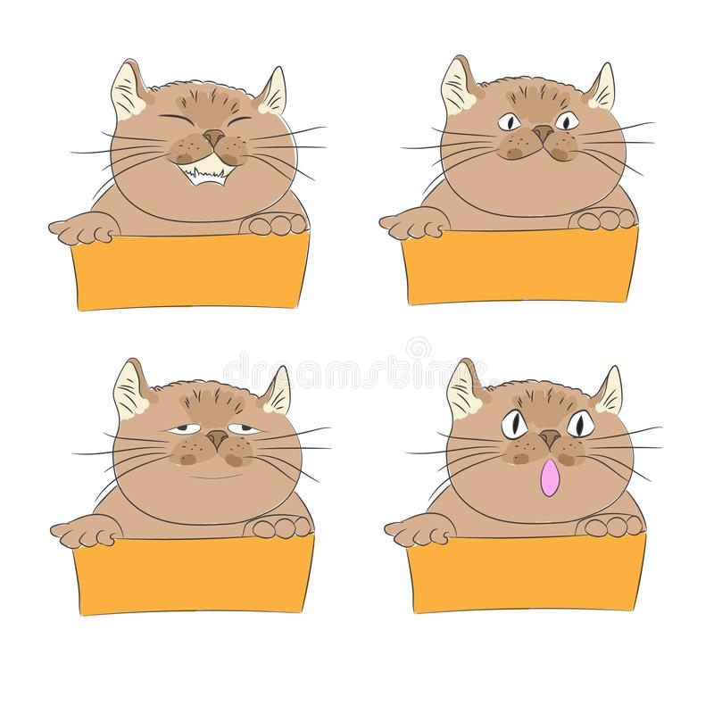 Design of cute cat with feeling. royalty free illustration