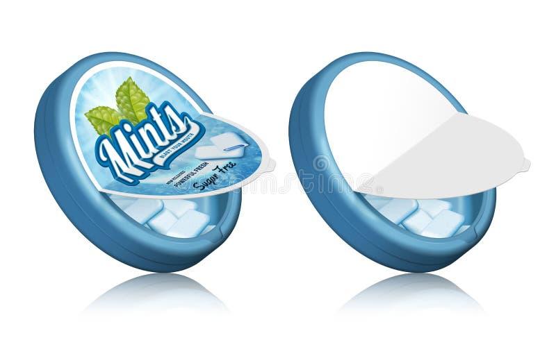 Design d'emballage de gomme de menthes illustration libre de droits