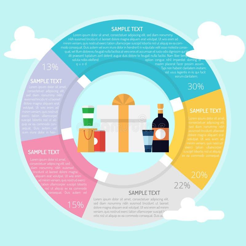 Design d'emballage Infographic illustration de vecteur