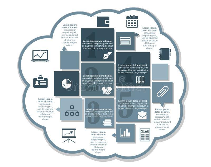 Design d'entreprise d'Infographics illustration de vecteur