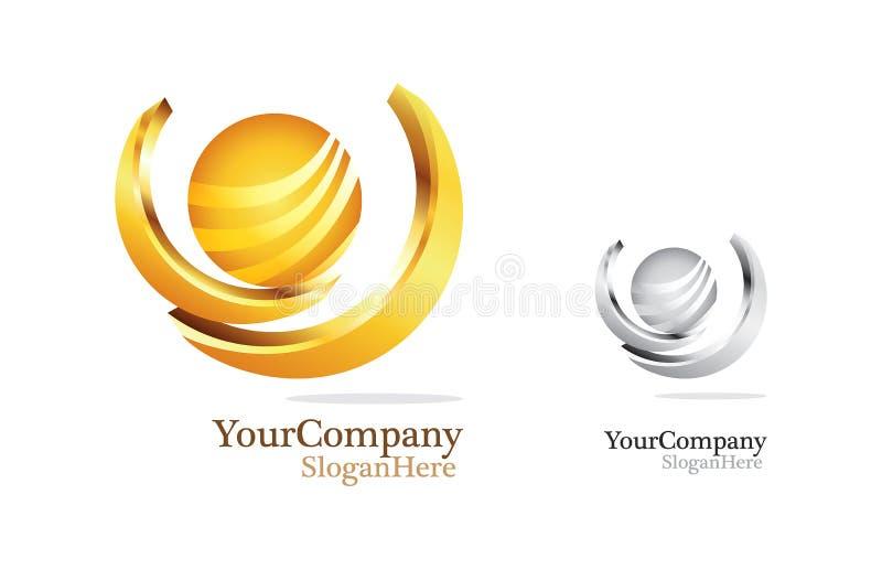 Design d'entreprise de luxe de logo illustration stock