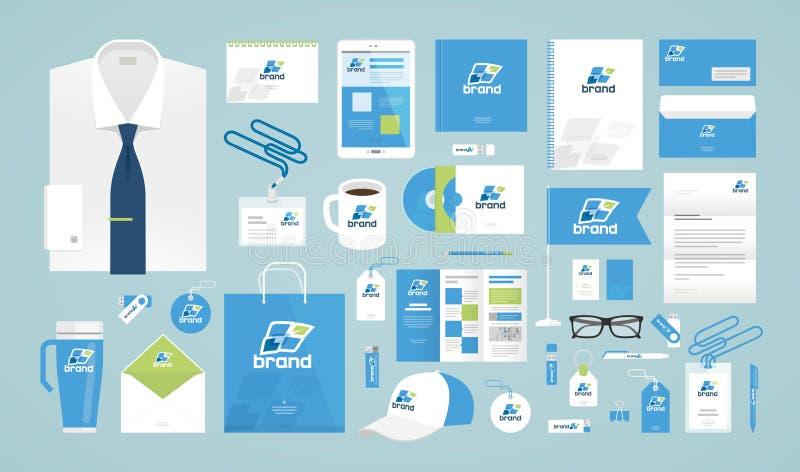 Design d'entreprise Descripteur d'identité de corporation Logo, label, promotion de marque Illustration de vecteur illustration libre de droits