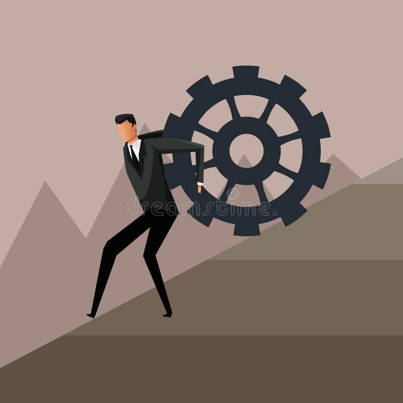 Design d'entreprise s'élevant de croissance de vitesse d'homme illustration libre de droits