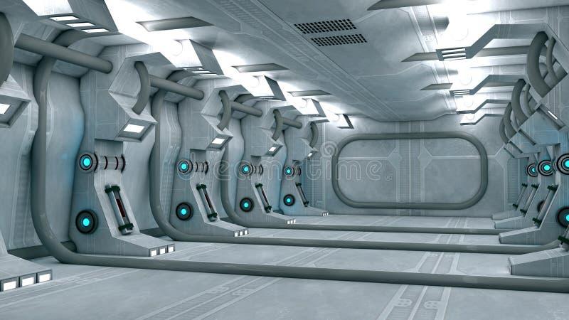 Futuristic inre stock illustrationer