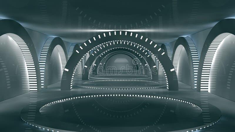Futuristic inre royaltyfri illustrationer