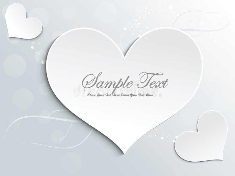 Design de carte abstrait d'amour illustration de vecteur