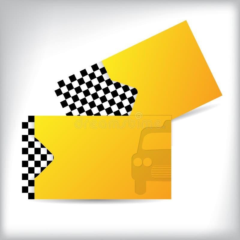 Design de carte bilatéral d'affaires de taxi illustration de vecteur