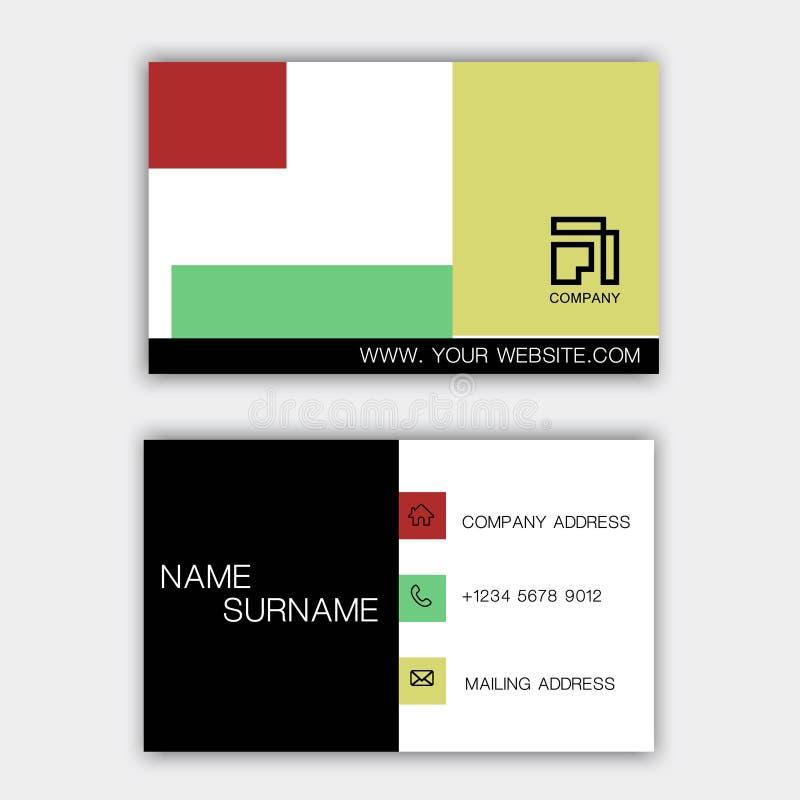 Design de carte coloré d'affaires sur le fond gris Avec l'inspiration du r?sum? illustration libre de droits