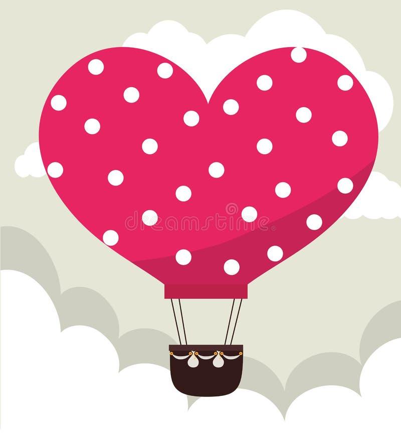Design de carte d'amour, illustration ENV 10 de vecteur illustration de vecteur