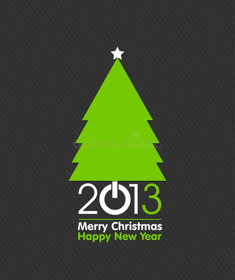 Design de carte d'arbre de Joyeux Noël illustration de vecteur