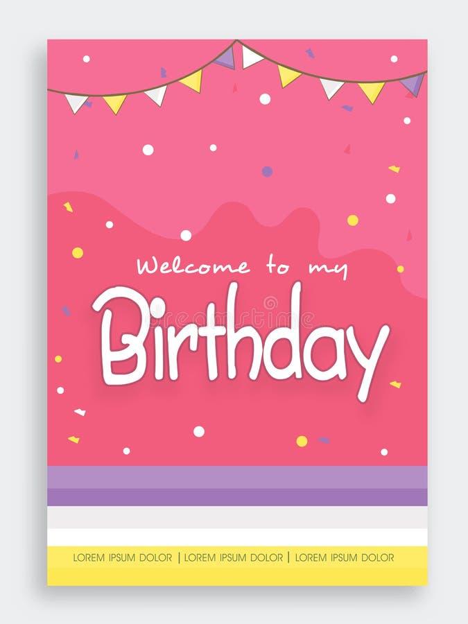 Design de carte d'invitation pour la fête d'anniversaire illustration de vecteur