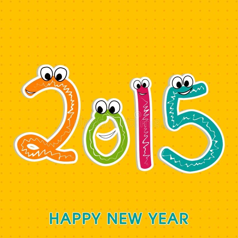 Design de carte de salutation de célébration de nouvelle année illustration stock