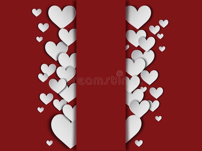Design de carte et illustration heureux de fond de Saint Valentin photos libres de droits