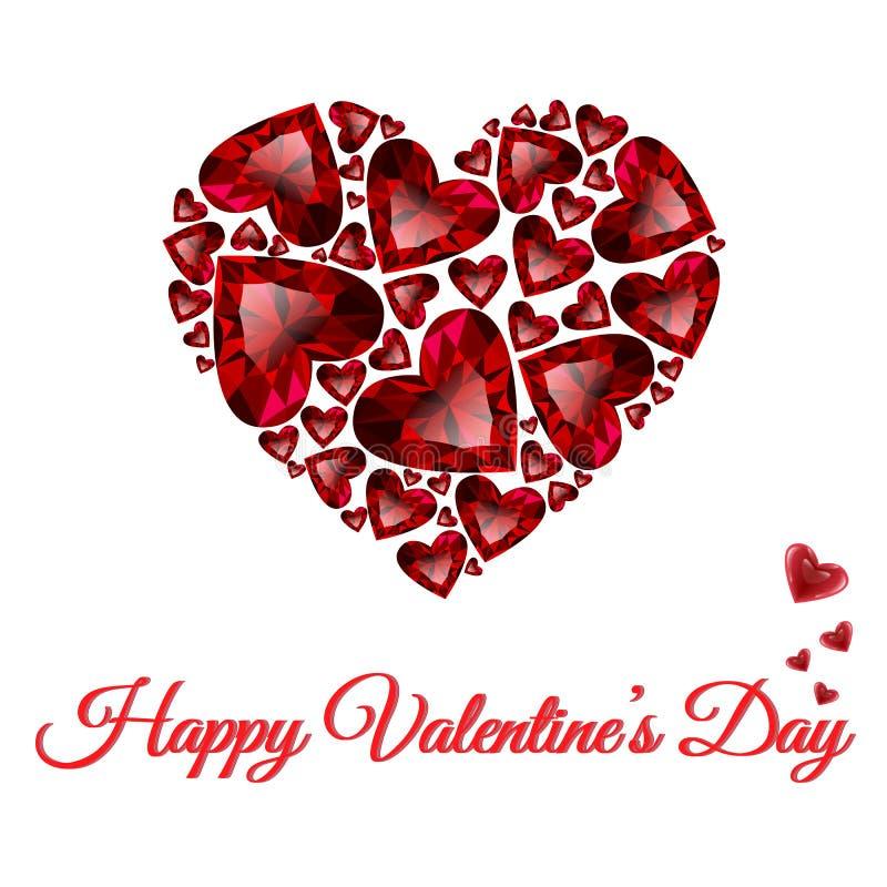Design de carte heureux de salutation de vecteur de jour de valentines illustration libre de droits