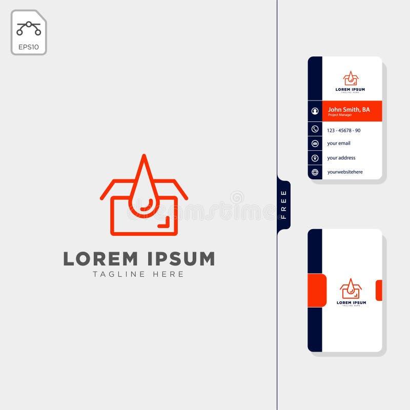 design de carte libre d'affaires de calibre de logo de concept de services d'huile de garage illustration libre de droits