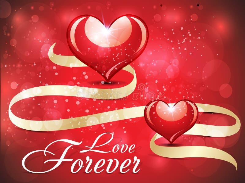 Design de carte lustré abstrait d'amour avec l'étincelle illustration stock