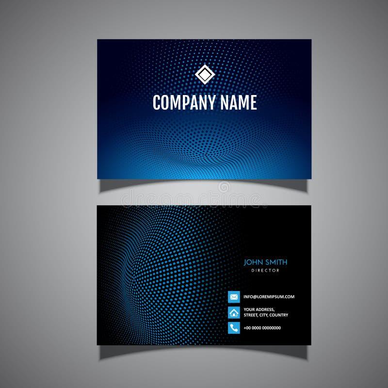 Design de carte moderne d'affaires illustration stock