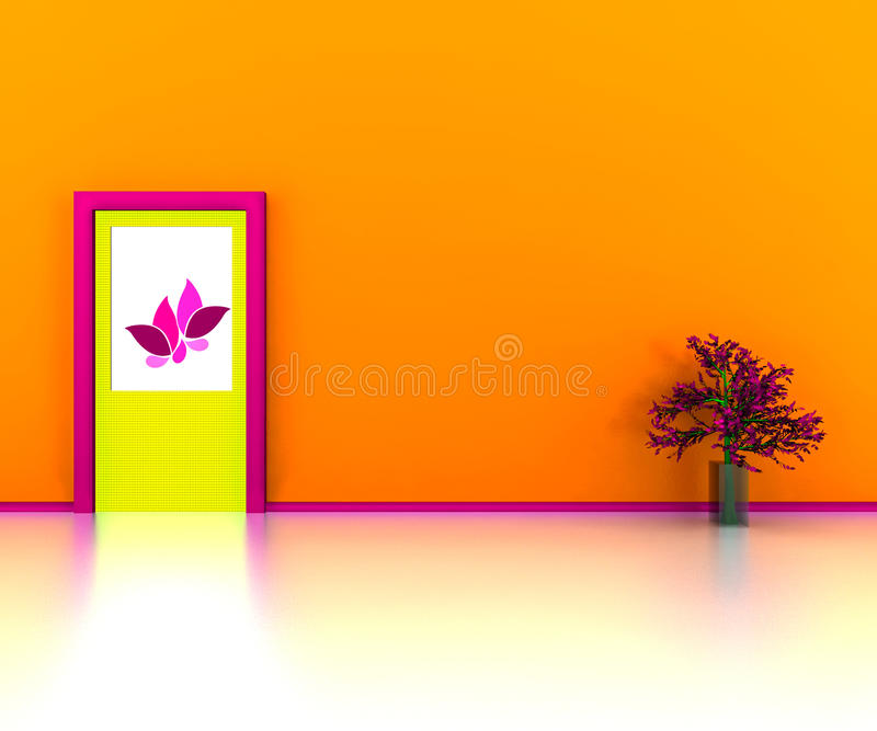 Design de interiores ilustração royalty free