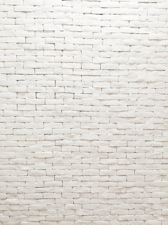 Design de interiores branco da fachada da parede de tijolo da argila para o papel de parede, o fundo e o contexto do teste padrão imagem de stock royalty free