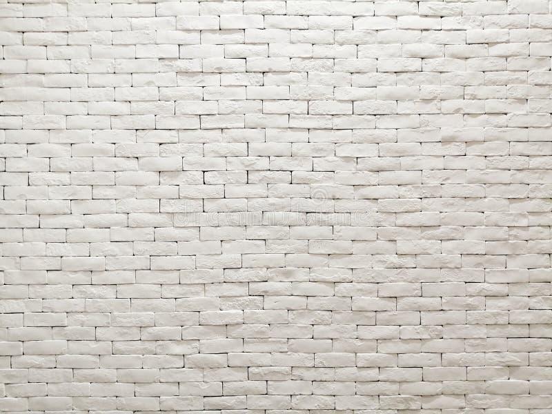 Design de interiores branco da fachada da parede de tijolo da argila para o papel de parede, o fundo e o contexto do teste padrão imagens de stock royalty free