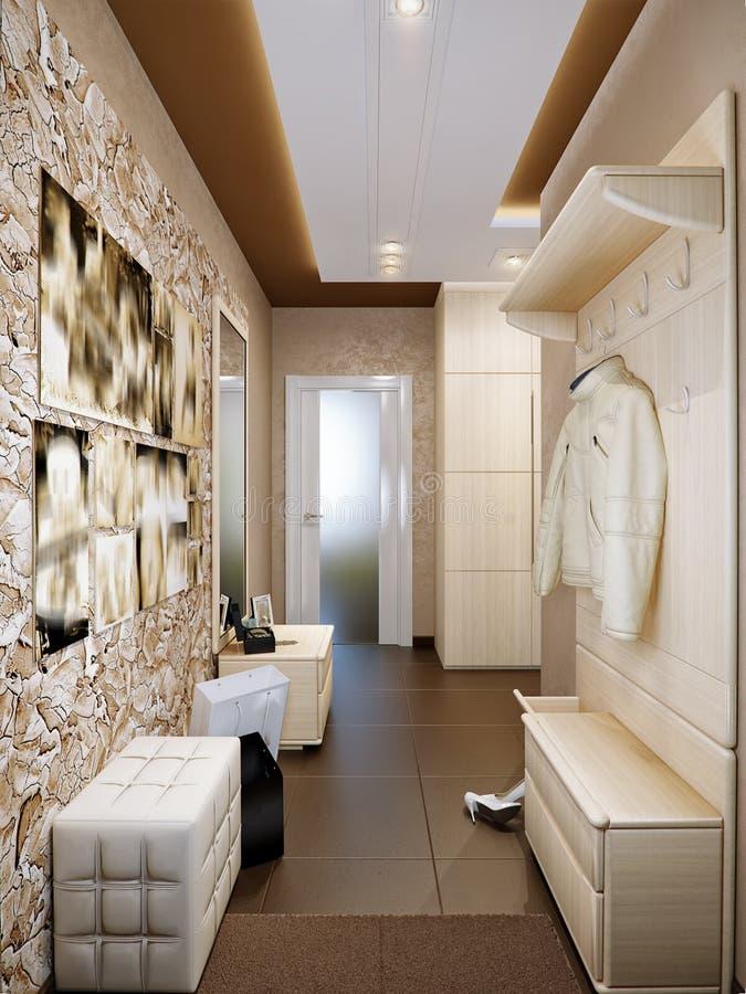 Design de interiores brilhante e acolhedor do salão ilustração royalty free