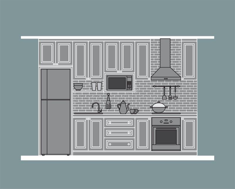 Design de interiores: cozinha fotografia de stock royalty free