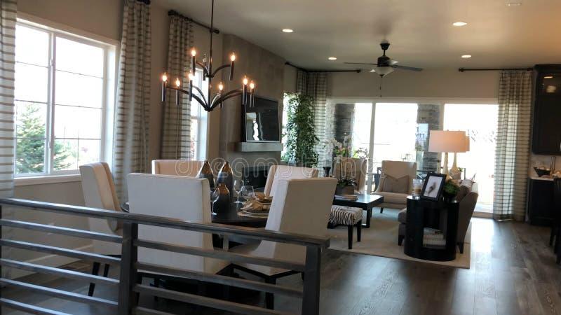 Design de interiores home moderno Sala de visitas fotos de stock royalty free